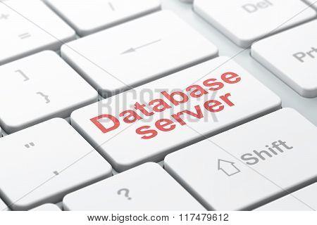 Database concept: Database Server on computer keyboard background