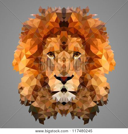 Lion Low Poly Portrait