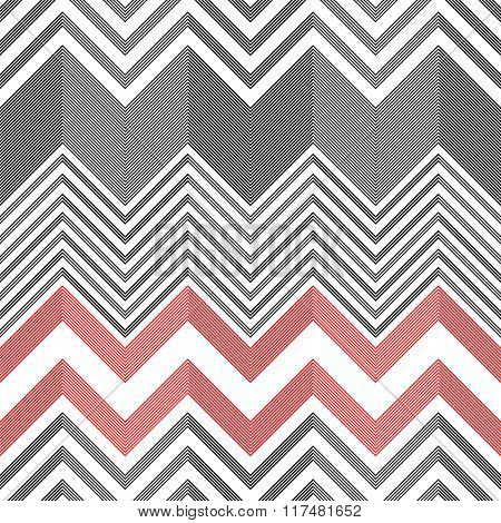Seamless ZigZag Pattern. Vector Abstract  Background