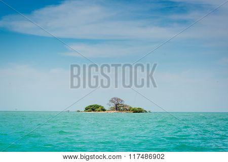 A small island near Africa