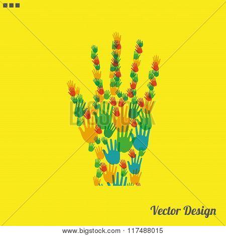 color hand vector illustration