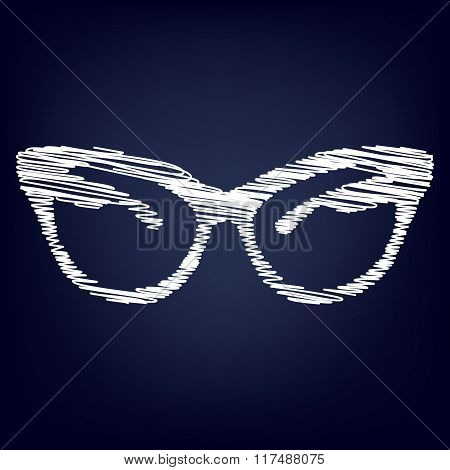 Vector illustration of stylish sunglasses