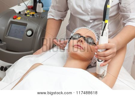 Woman at healthy spa salon