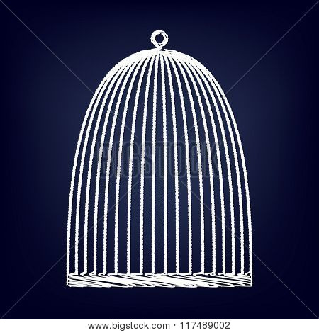 Bird cage with chalk effect