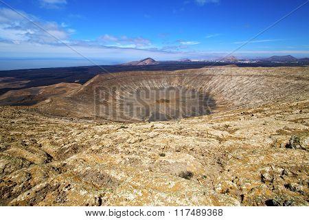 Atlantic Ocean Home  Bush Timanfaya  In Los Volcanes Volcanic Rock Stone