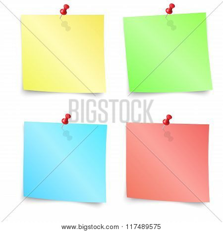 Colorful sticky note, vector illustration.