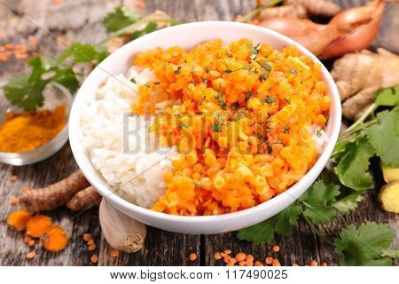 red lentils cooked with spices