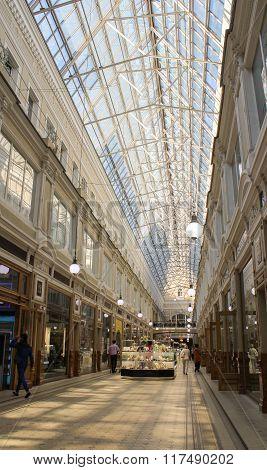 Shop Passage On Nevsky Prospect.