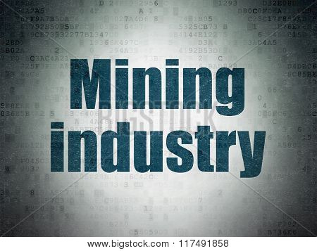 Industry concept: Mining Industry on Digital Paper background