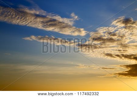 Asia  The  Kho Tao Bay Isle Sunset Sun   Thailand    Cloud