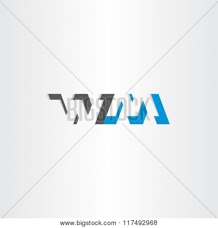 Letter W And M Logotype Logo Vector Icon