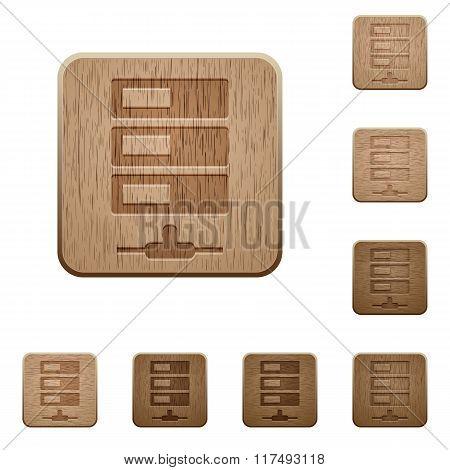Data Network Wooden Buttons