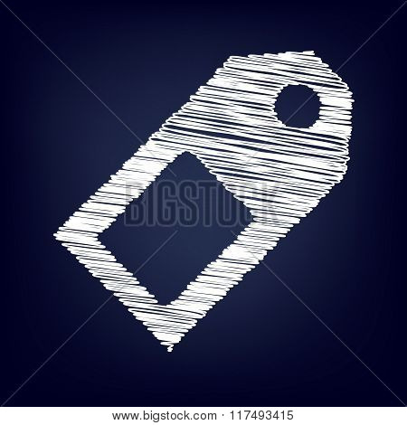 Vector icon with chalk effect