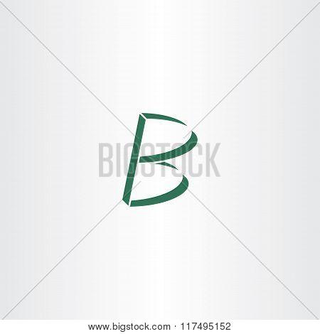 Logo Logotype Green Letter B Vector Design