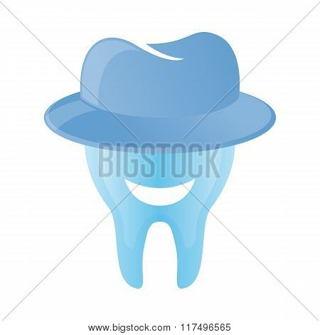 Tooth logo in hat