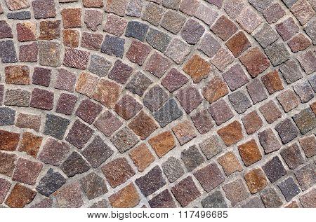 Pattern of colored cobblestones