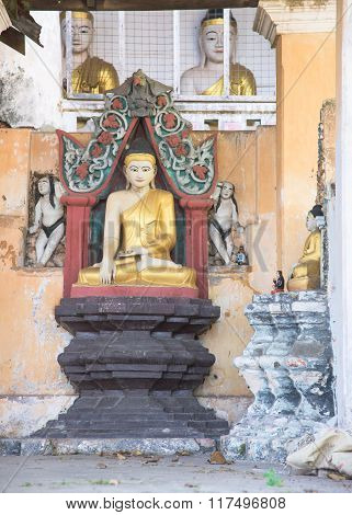 Buddha Image At Temple In Myeik, Myanmar