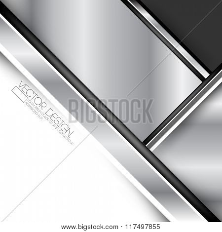 metallic flat layout material business background