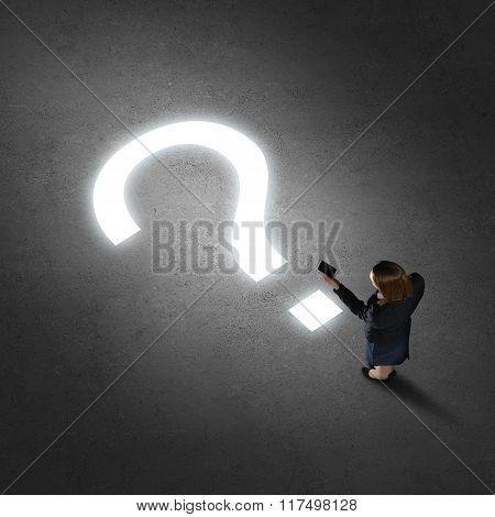 Businesswoman making calls
