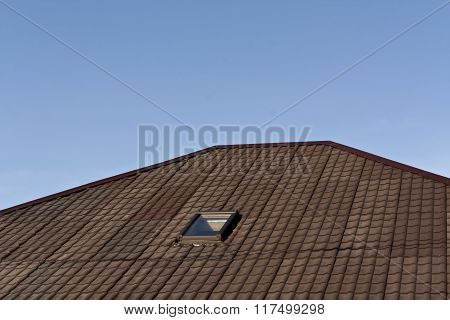 Brown Roof Texture With Mansard.
