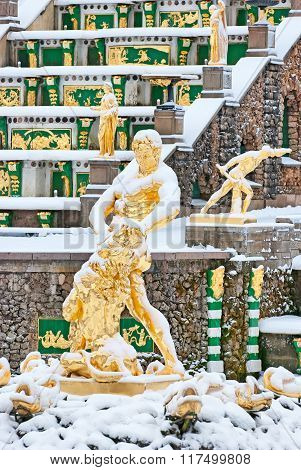 Peterhof. Russia. The Samson Fountain