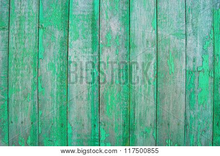 green wooden planks, palisade