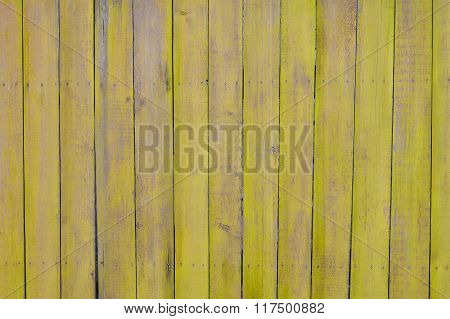 yellow wooden planks, palisade