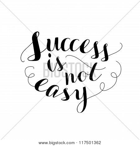 Hand Lettering Typography Poster For Success