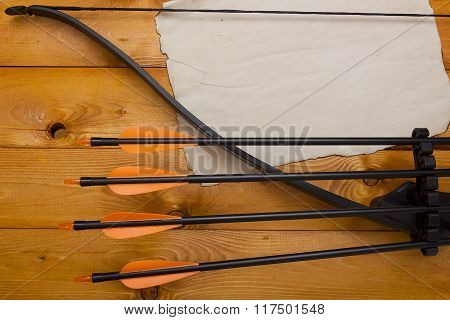 Professional Bow With A Set Of Arrows