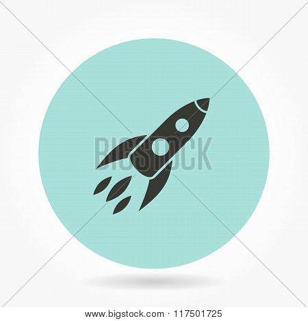 Rocket - Vector Icon.