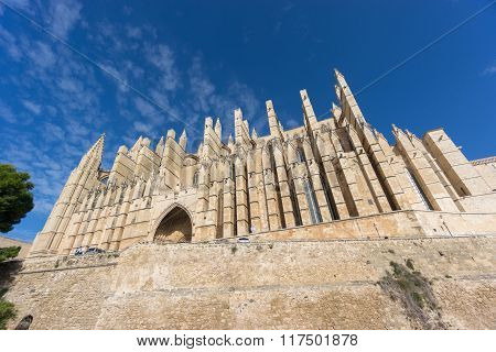 Cathedral of Palma de Majorca, wide angle