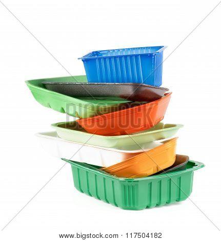 Empty Recycled Trays