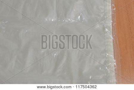 plastic bag packing on table