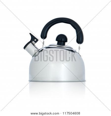iron kettle with whistle