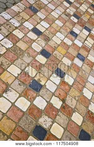 Borghi  Street   Abstract   Pavement Of A Curch And Marble