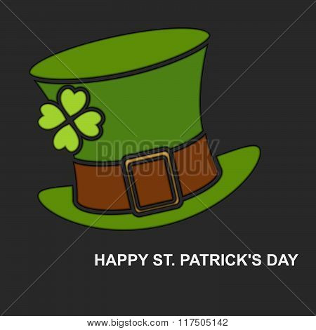 Saint Patrick's Day background for greeting card with green hat