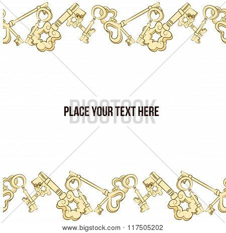 Vector frame with keys