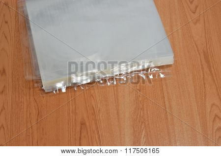 hot plastic bag packing on table
