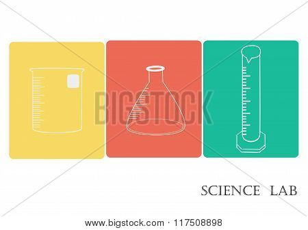Science lab Vector Icon Set,chemical  icons set,Chemical Laboratory, chemical glassware. vector illu