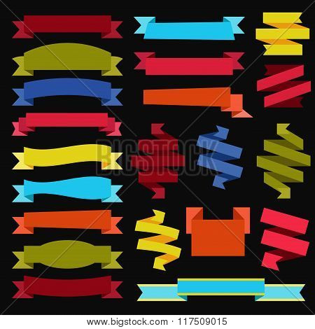 Ribbons vector set