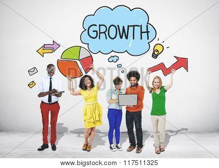Growth Business Success Launch Commercial Power Concept