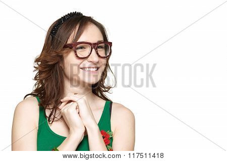 Nerd young woman
