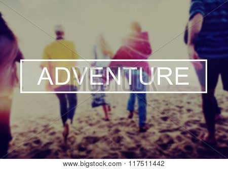 Adventure Journey Cheerful Holiday Happiness Concept