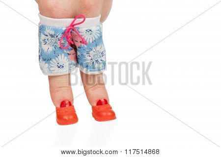 Female Finger In Shorts And Boots