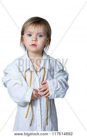 Portrait Of Little Child Isolated