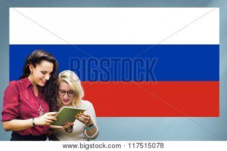 Russia Flag Patriotism Russian Pride Unity Concept