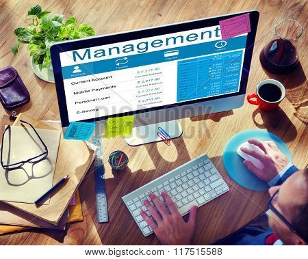 Management Supervising Strategy Leadership Dealing Concept