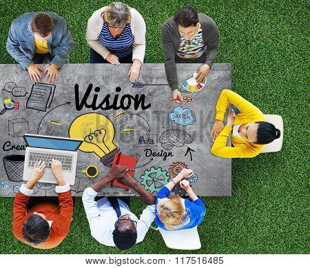 Vision Creative Ideas Design Concept