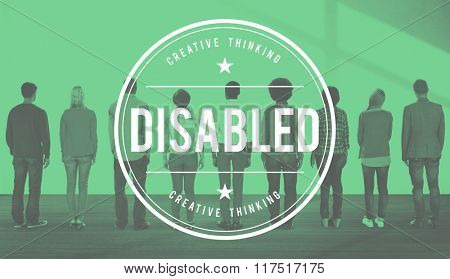 Disabled Disability Disorder Condition Handicap Concept