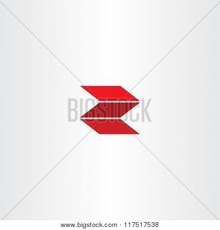 Red Letter Z Logotype Logo Z Vector